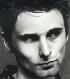 Matt Bellamy Charcoal Drawing Sketch Portrait Circa 2001, Muse, Matt Bellamy, Sketch, Drawing, Charcoal, Pencil, Art, Face, Natalia Faulkner,