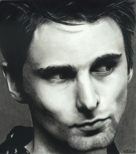 Matt Bellamy Drawing Sketch Portrait Circa 2001