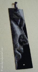 Rufus Wainwright Profile Handmade Beaded Art Square Stitch Wide Cuff Bracelet, One of a Kind, Version 3.0