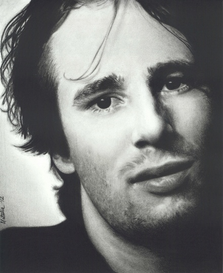 Jeff Buckley Charcoal Pencil Drawing