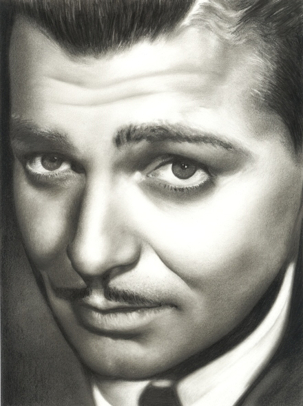 Clark Gable Graphite Pencil Drawing, 2012