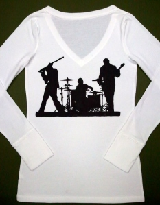 Muse Silhouette 2004-2005 Tour Poster Hand Painted T-Shirt