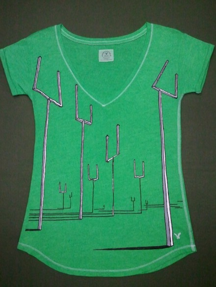 Muse Origin of Symmetry Green Cover Art Hand-Painted T-Shirt