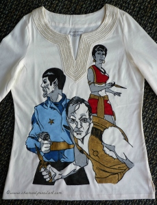 Star Trek 'Mirror, Mirror' hand painted t-shirt, TOS, Spock, Kirk, Bearded, Alternate Universe, Shirt, t-shirt, Mirror, Mirror