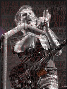 Word Mosaics Poster - Matt Bellamy Muse