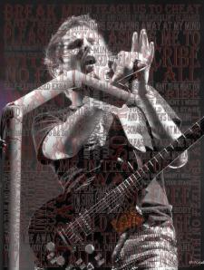 Word Mosaics Poster - Matt Bellamy Muse