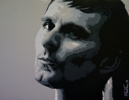 Matt Bellamy Muse Painting, Acrylic on Canvas, 2013