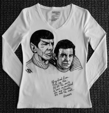 Kirk and Spock - The Wrath of Khan Hand Painted T-Shirt