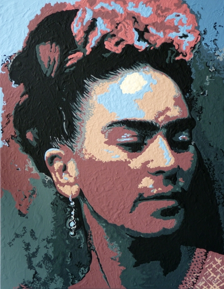 Frida Kahlo, Acrylic on Canvas by Natalia Faulkner, 2014